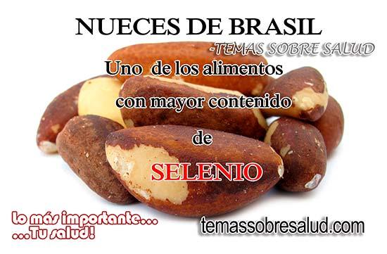 Nueces de Brasil ricas en selenio