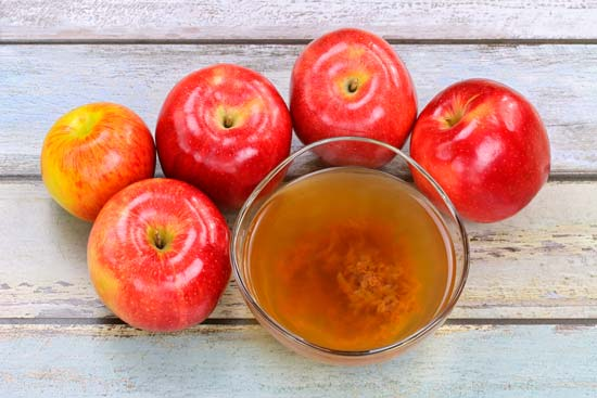 Vinagre de manzana sobre peso