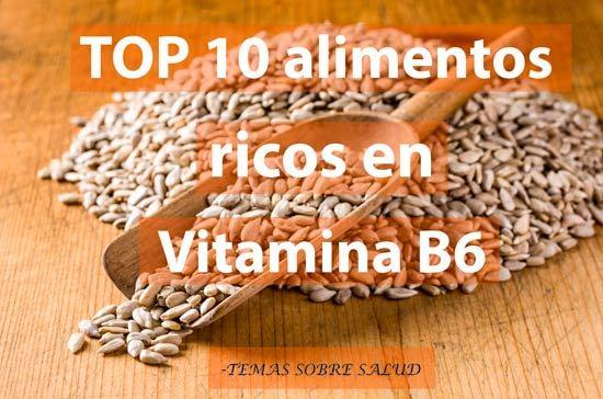 vitamina B6 semillas de girasol