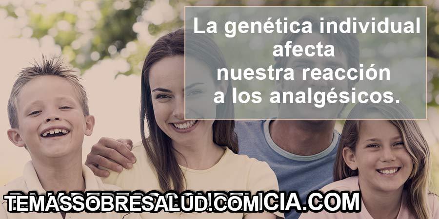 La genética individual afecta nuestra reacción a los analgésicos comunes