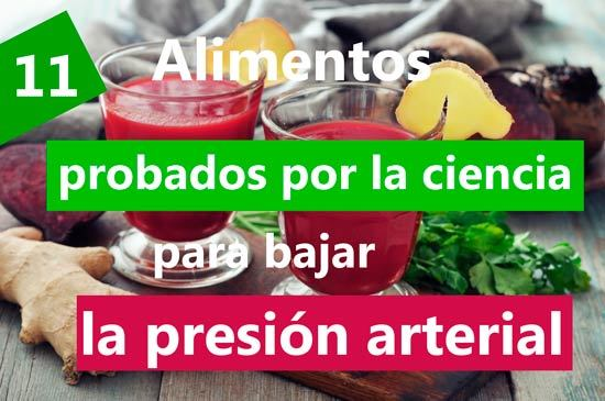Alimentos q suban la tension