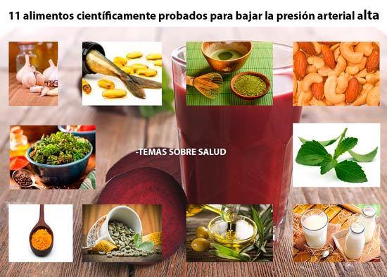 alimentos que te ayudan a bajar la presion arterial