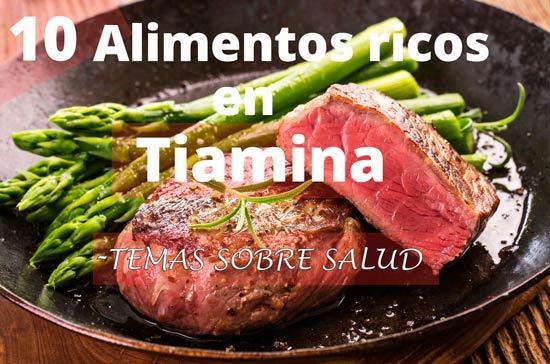Tiamina 10 fuentes principales de vitamina b1 - Alimentos ricos en b1 ...