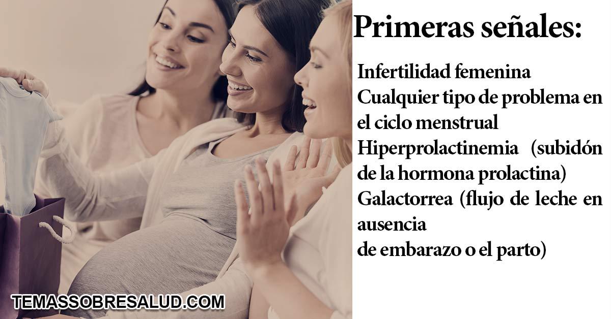 Síntomas frecuentes de problemas de fertilidad femenina debido al hipertiroidismo