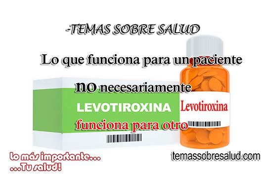 levotiroxina para el Hipotiroidismo
