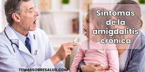 Amigdalitis crónica recurrente simple, con angina aguda frecuente.