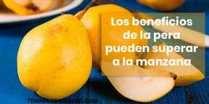 Beneficios de las peras para la salud son ricas en minerales
