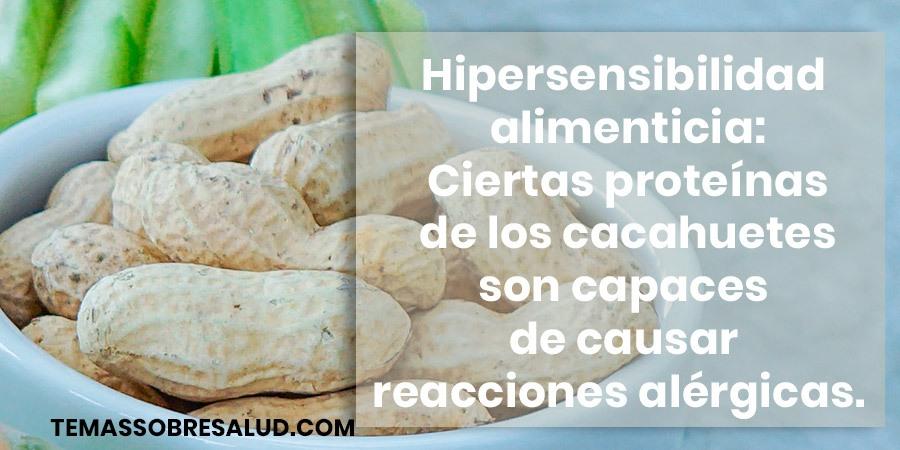Hipersensibilidad alimenticia -alérgenos
