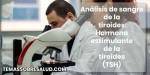 Análisis de sangre de la tiroides