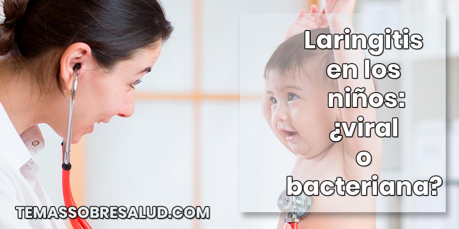Laringitis en los niños